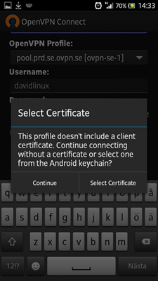 Picture for step 5 to install OpenVPN for Android