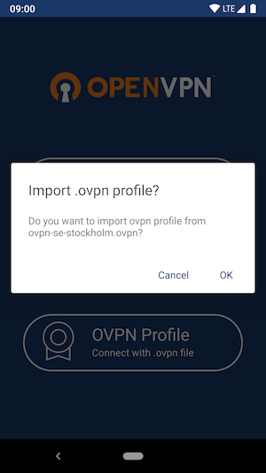 Openvpn Failed To Import Profile Ios