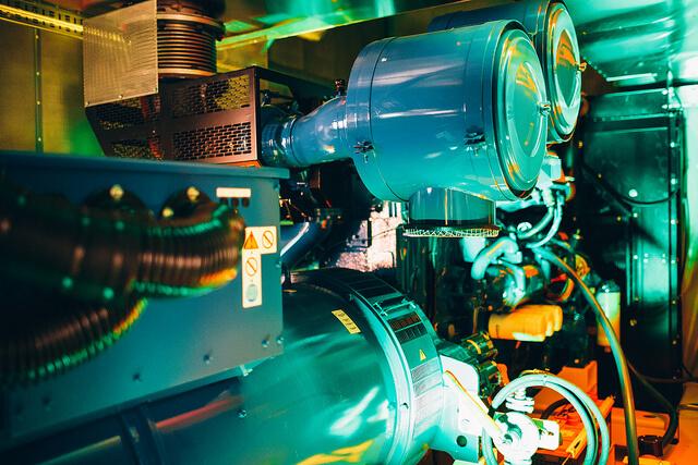 Marinen datacenter - dieselgenerator