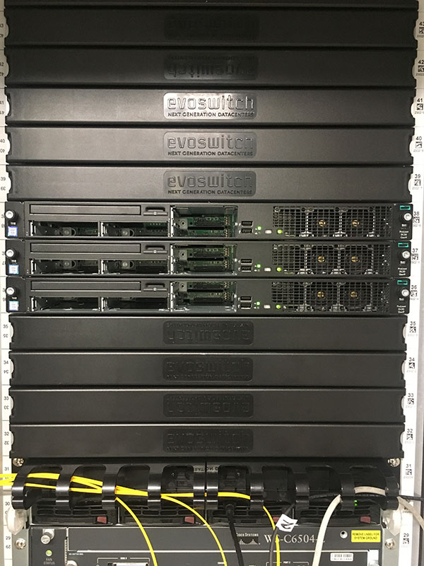 Server rack from the front