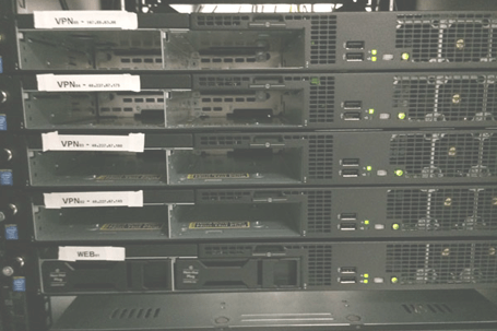 All our servers operate without hard drives