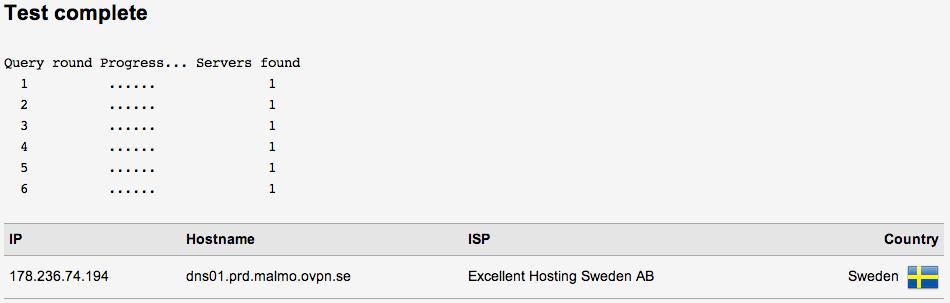 No DNS leak